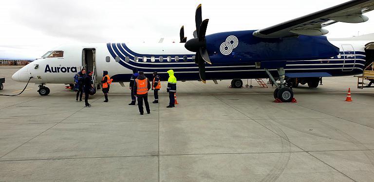 Мечты сбываются. о.Итуруп - жемчужина курильских островов- часть 2. Итуруп (ITU) - Южно-Сахалинск (UUS) рейс HZ4618 а\к Аврора Bombardier DHC 8-400 NG (эконом). + Бонус-фото с острова.