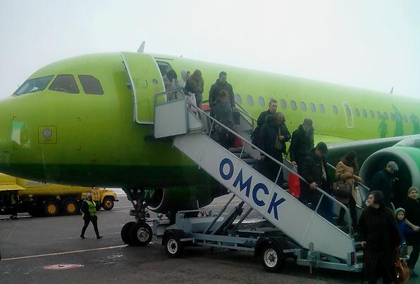 Путешествие на Дальний Восток, Часть четвёртая: Москва - Омск, А-319, S7 (Сибирь)
