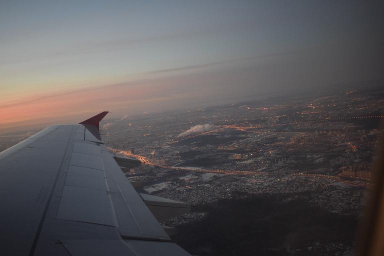 Вместе с рассветом: коротко об утреннем перелете из Москвы в Санкт-Петербург рейсом Nordwind