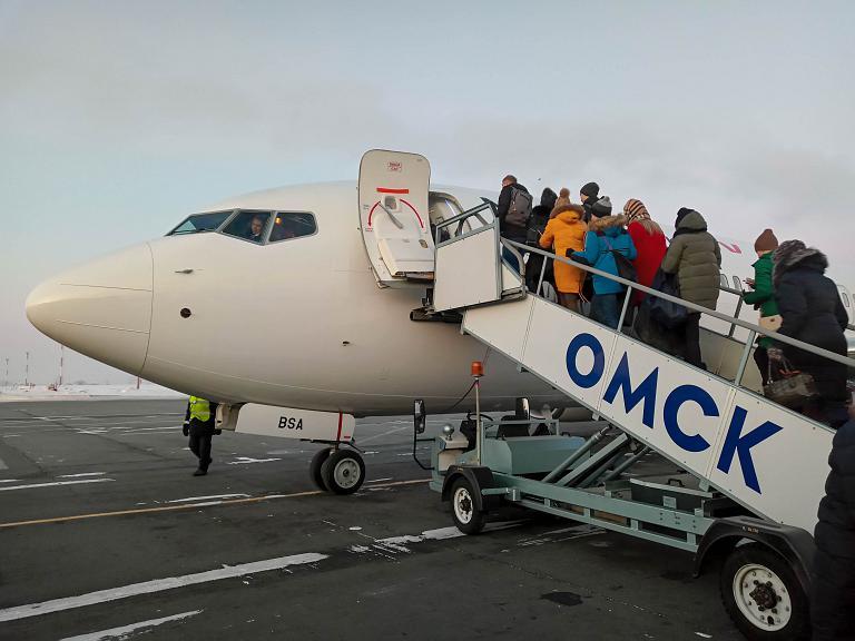 Омск-Москва, Nordwind (Северный ветер), Boeing 737-8ME(WL), VP-BSA