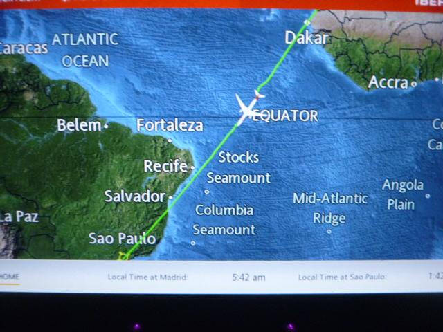 Путешествие через океан. Часть 2. Мадрид (Т4S) - Сан Паулу (GRU) на Airbus A330-300 IBERIA.