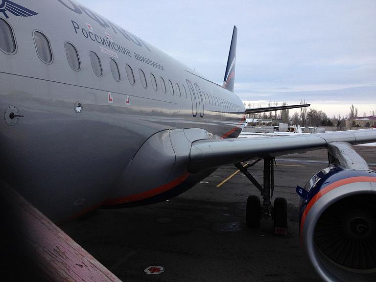 Волгоград-Москва, Аэрофлот. Вечерний полет на A320.