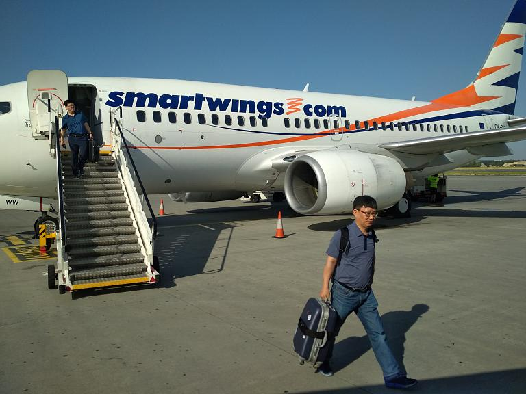 Жаркая Европа.  Перелёт Москва - Прага с Smartwings