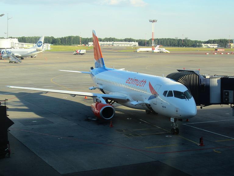Вечерний полет VKO-ROV с Азимутом на Суперджете + небольшой Bonus