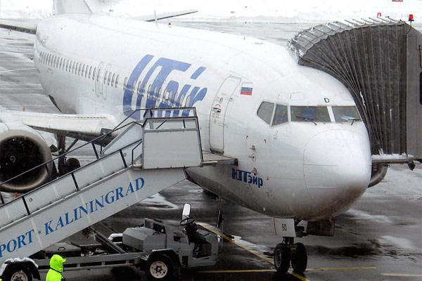 Калининград(Храброво)-Москва(ВНК)-Нижневартовск с Utair Б-737-400,Б-737-800