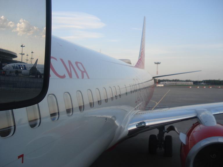 Непредвиденная поездка в Крым. Часть 1. Москва(VKO) - Симферополь (SIP) на Boeing 737-800 авиакомпании Россия.