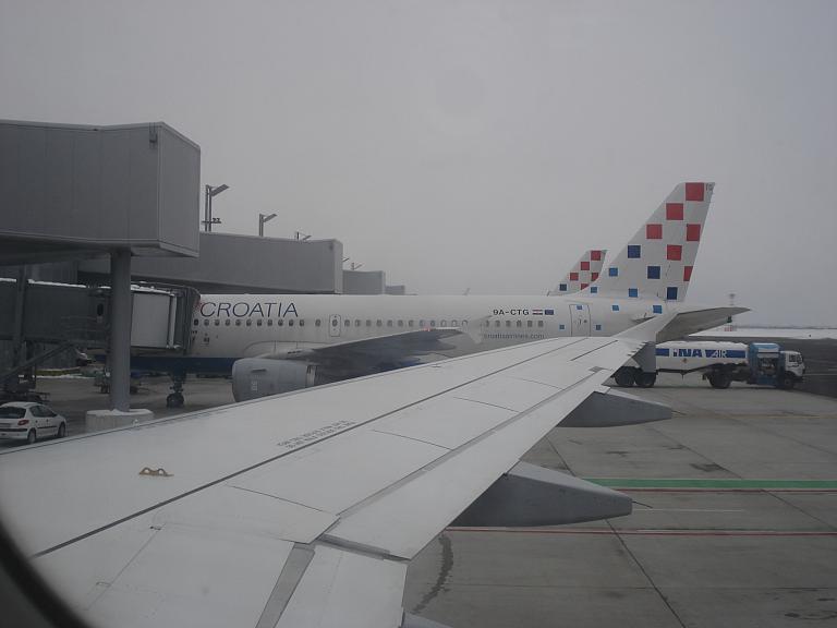 Европейские широты. Часть 3. Из Загреба в Амстердам с Croatia Airlines на A320.