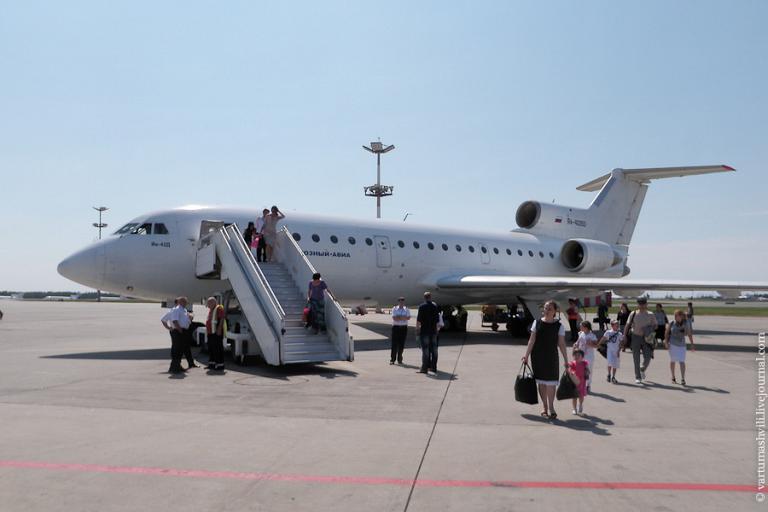 В Чечню на Як-42 Грозный-авиа