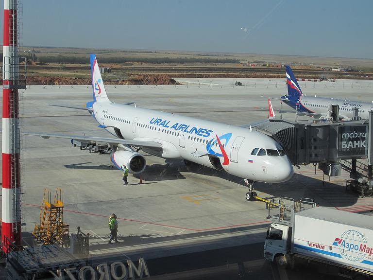 Из Симферополя в Жуковский с Уральскими авиалиниями на A321