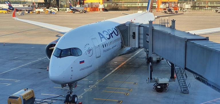 Перелет на А350-900 из Москвы в Санкт-Петербург