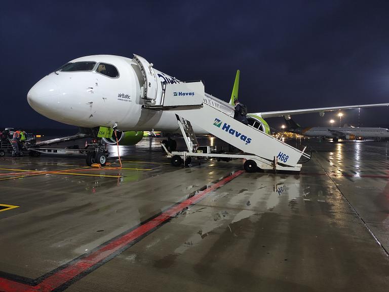 Европа 2021. Осень. Рига (RIX) - Таллин (TLL). Airbus A220-300 AirBaltic.