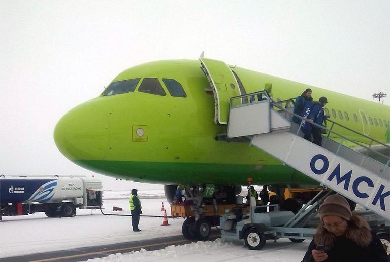 Москва-Омск, S7 (Сибирь), Airbus A319, VP-BTS