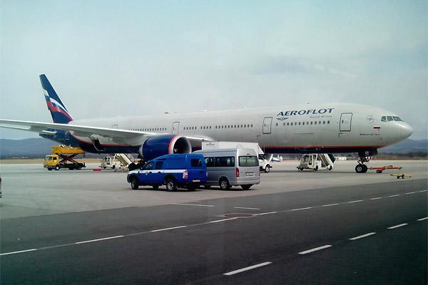 Путешествие на Дальний Восток, Часть третья: Владивосток - Москва,  Boeing 777-300, Аэрофлот