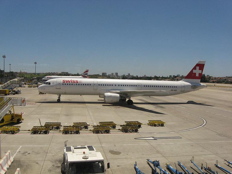 Из Москвы в Лиссабон и обратно со Star Alliance. Часть третья: Лиссабон-Цюрих с Swiss International Airlines