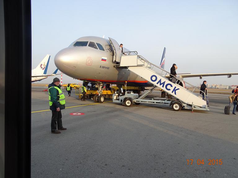 Москва (SVO) - Омск (OMS) рейс SU 1638 (Airbus A320)