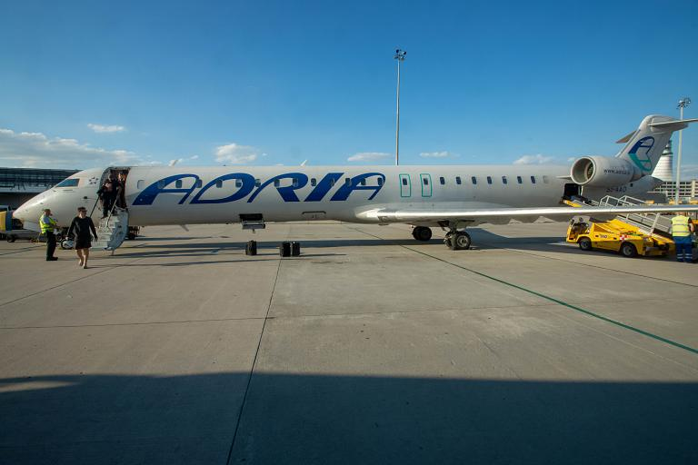 Несостоявшийся полёт с Austrian. Любляна - Вена JP136 Adria Airways