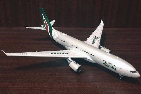 """JC Wings 1:200, Airbus A-330-200 """"Alitalia"""" I-EJGA"""