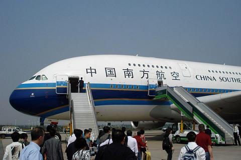 """China Southern Airlines"" перелёт Гуанчжоу-Шанхай на А-380"