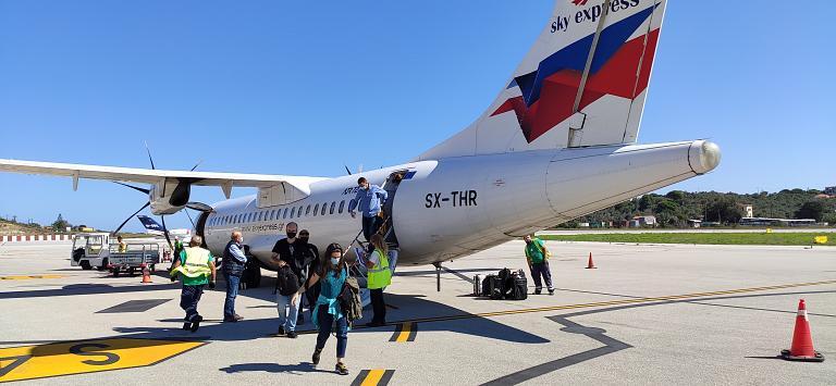 Дневной полет на Скиатос. Афины-Скиатос (ATH-JSI) в конце сентября с.г. на ATR-72-500