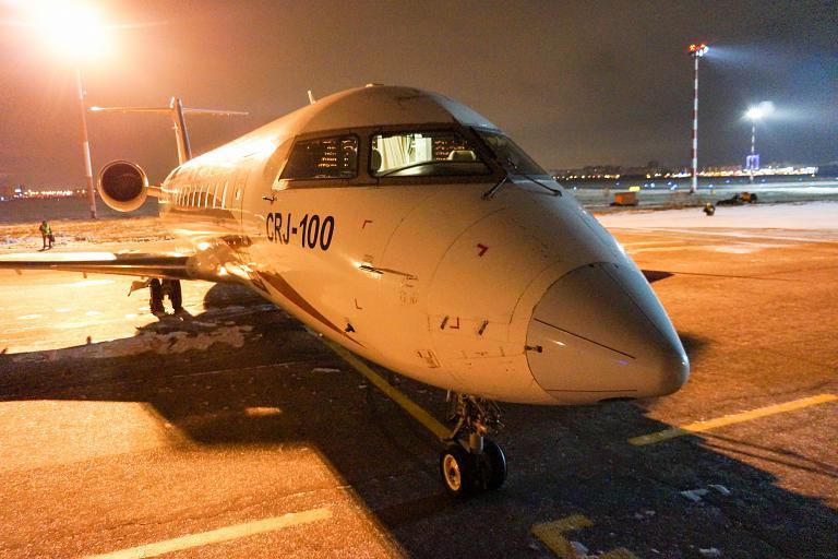 Открытие рейса Тюмень-Омск-Тюмень, авиакомпания Руслайн, CRJ-100ER, VQ-BNE
