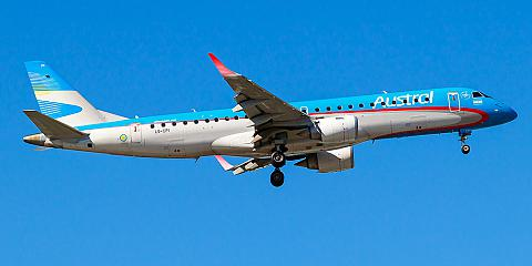 Austral Lineas Aereas. Airline code, web site, phone, reviews and opinions.
