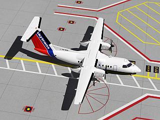Модель самолета Bombardier Dash 8-100/200