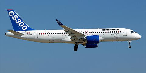 Bombardier CS300 - commercial aircraft. Pictures, specifications, reviews.