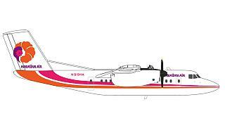 Модель самолета Bombardier Dash 7