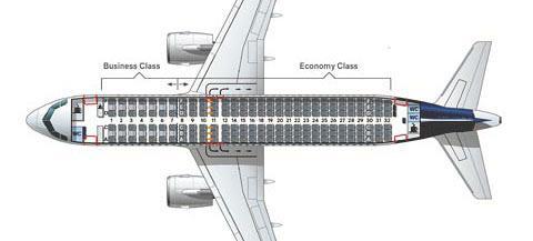 Cхема салона Airbus A320neo