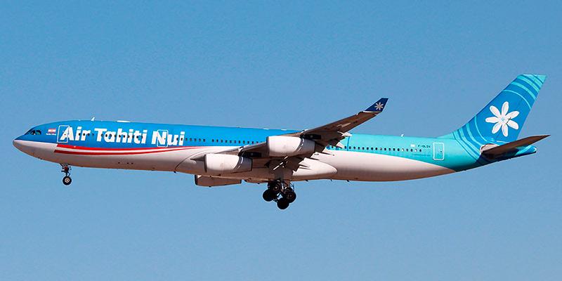 Самолет Airbus A340-300 авиакомпании Air Tahiti Nui