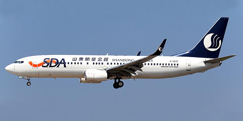 Боинг-737-800 авиакомпании Shandong Airlines