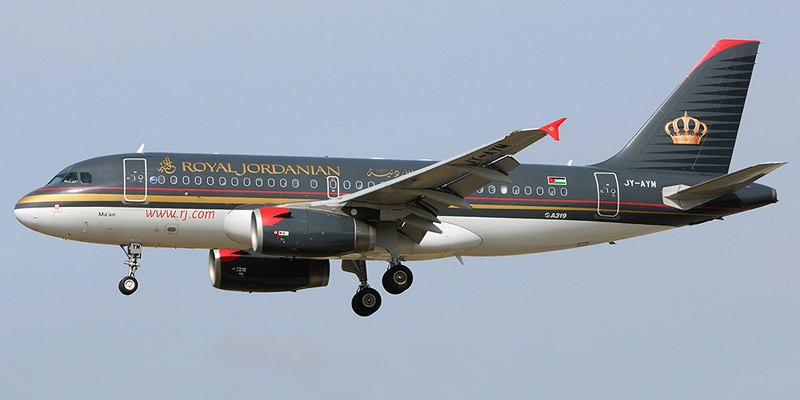 Airbus A319 авиакомпании Royal Jordanian Airlines
