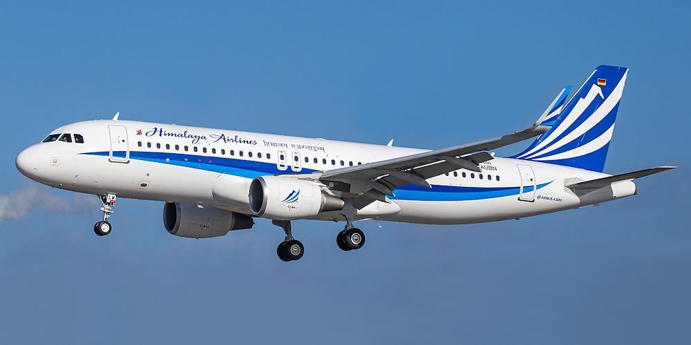 Airbus A320 авиакомпании Himalaya Airlines