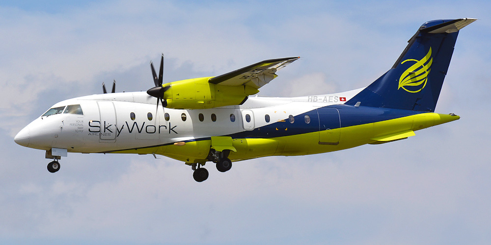 Самолет Dornier 328 авиакомпании Sky Work Airlines