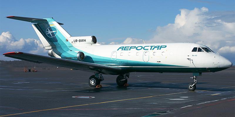Самолет Як-40 авиакомпании Аэростар