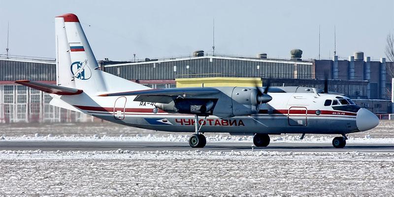 Самолет Ан-24 авиакомпании Чукотавиа