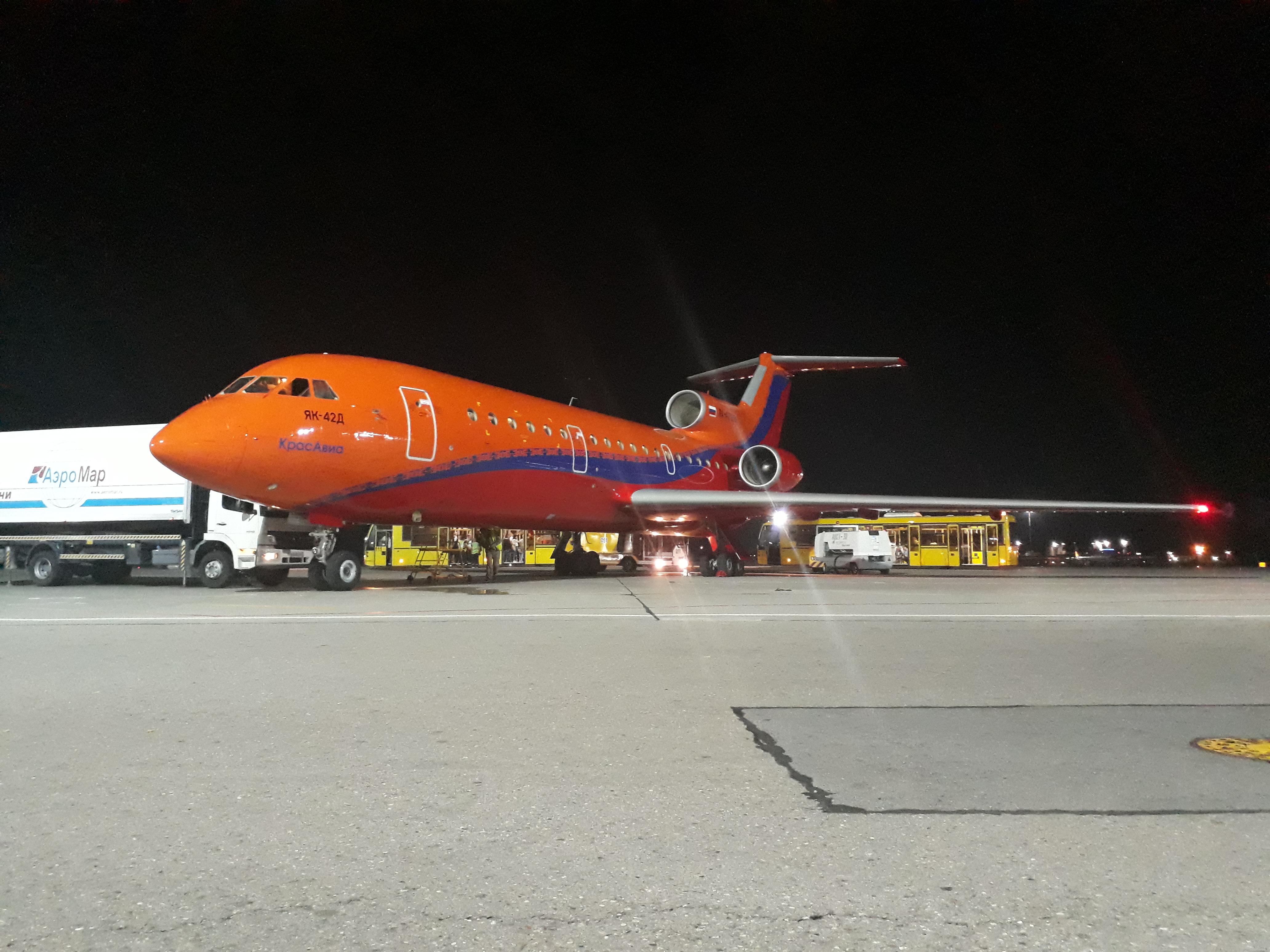 "YAK-42D RA-42388 airline ""KrasAvia"" in Sochi"