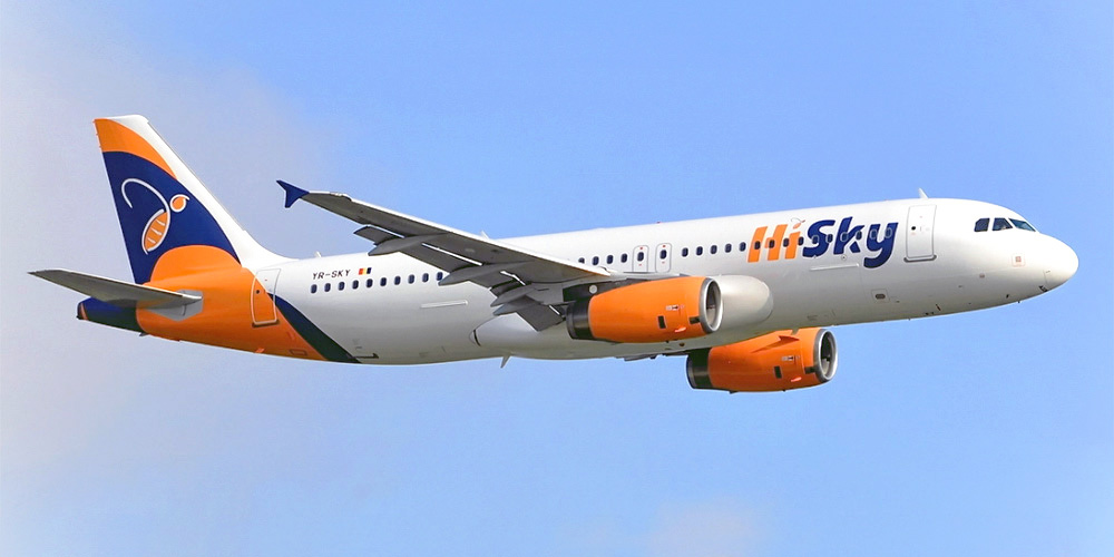 Самолет Airbus A320 авиакомпании HiSky
