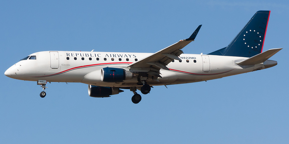 Самолет Embraer 175 авиакомпании Republic Airlines