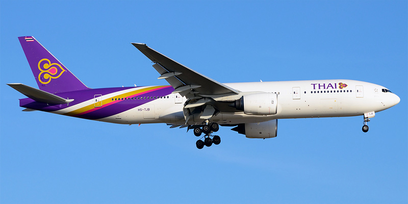 Самолет Боинг-777-200 авиакомпании Thai Airways