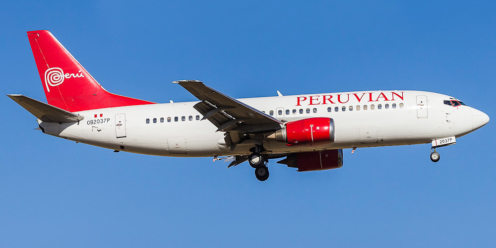 Самолет Боинг-737-300 авиакомпании Peruvian Airlines