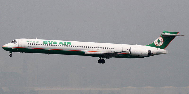 MD-90 авиакомпании Eva Air
