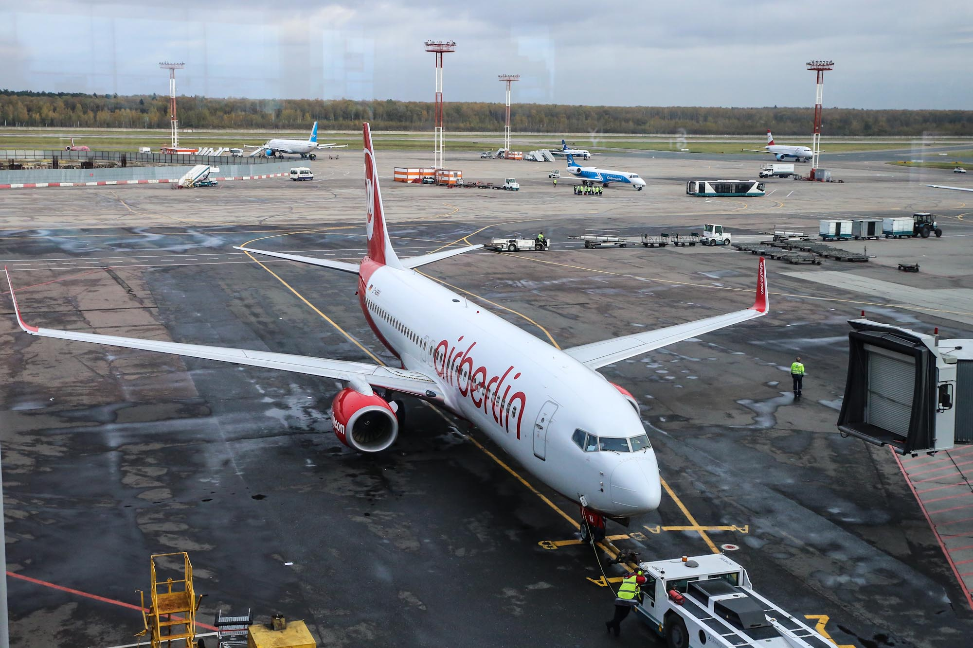 Boeing-737-800 operated by Air Berlin at the airport Domodedovo
