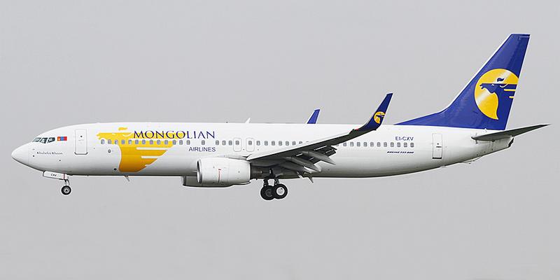 Boeing 737-800 авиакомпании MIAT – Mongolian Airlines