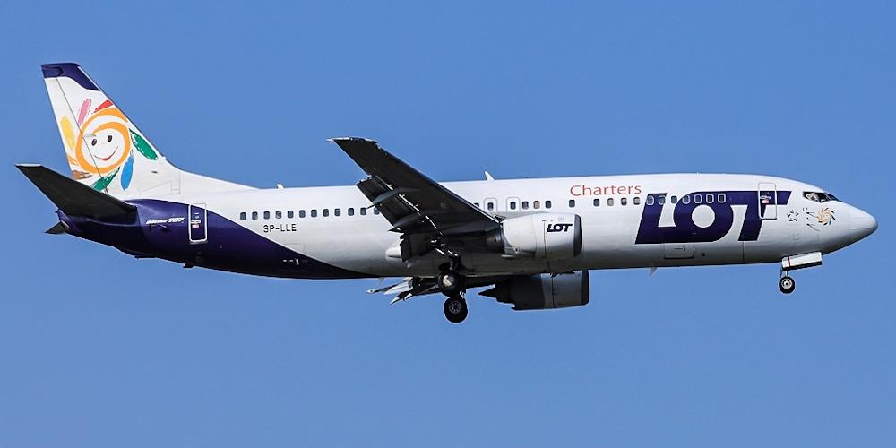 Боинг-737-400 авиакомпании LOT Charters