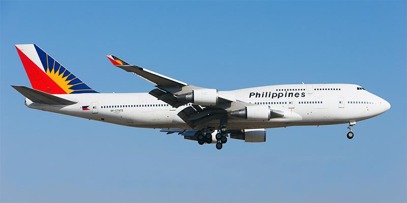 Самолет Боинг-747 авиакомпании Philippine Airlines