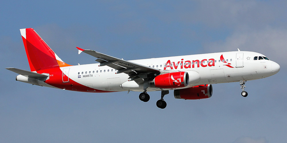 Самолет Airbus A320 авиакомпании Avianca El Salvador