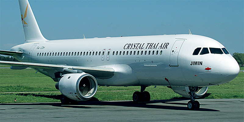 Самолет Airbus A320 авиакомпании Crystal Thai Airlines