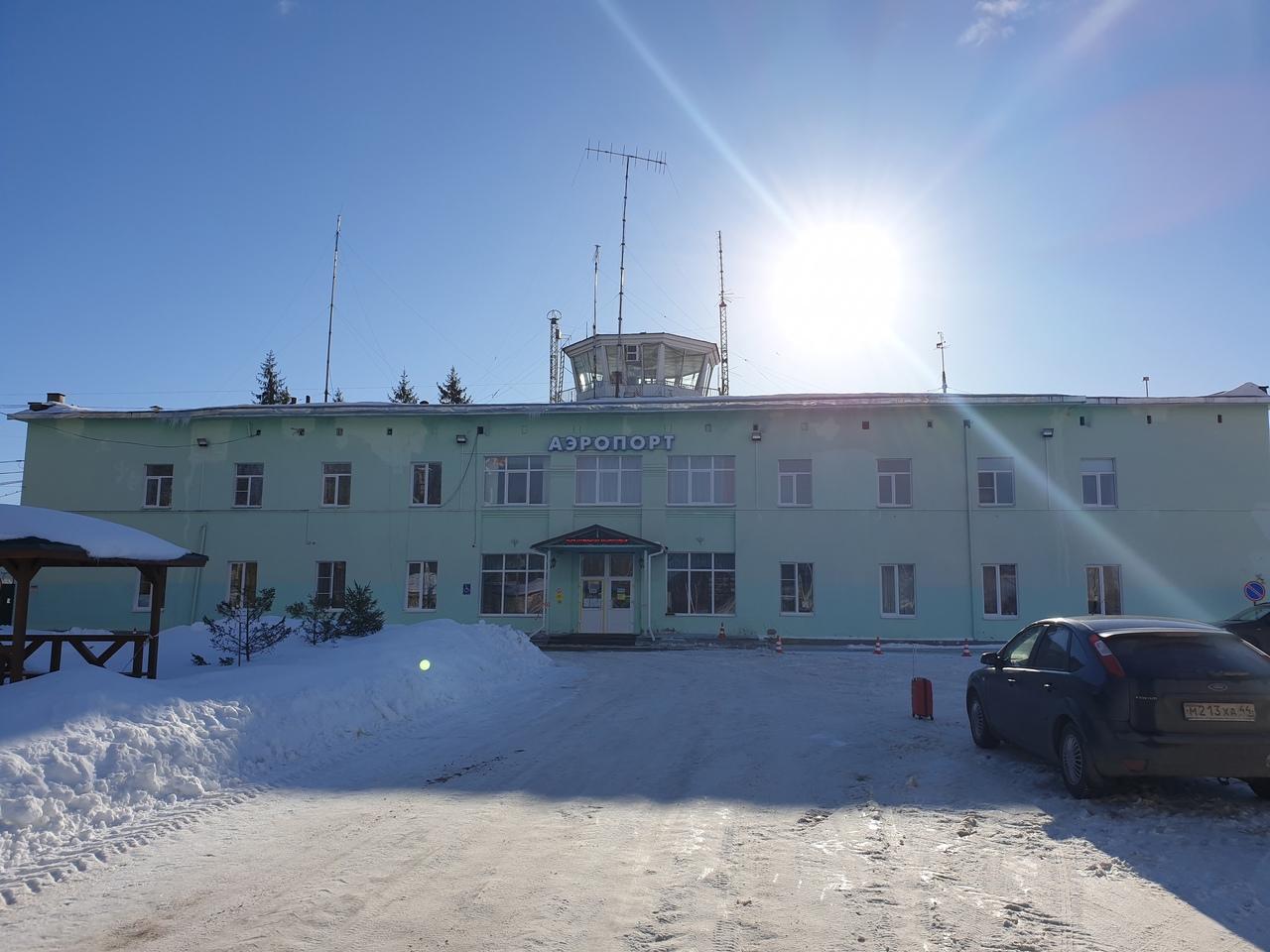 Sokerkino airport of Kostroma city
