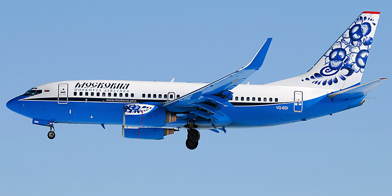 Самолет Боинг-737-700 авиакомпании Московия